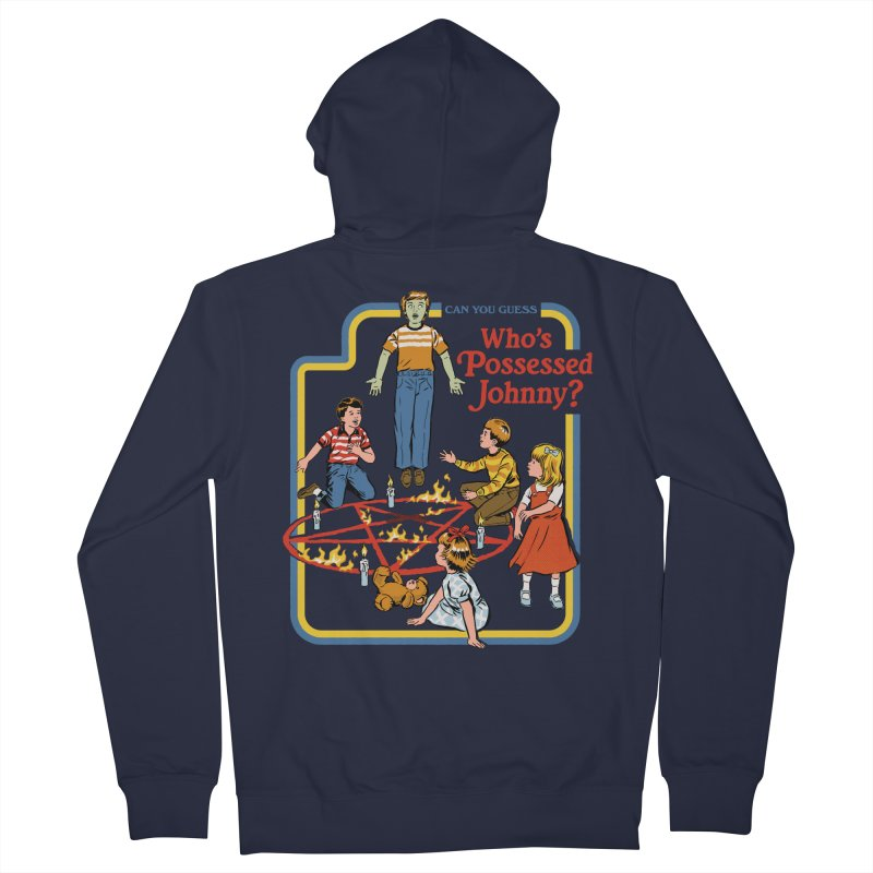Who's Possessed Johnny? Men's French Terry Zip-Up Hoody by Steven Rhodes