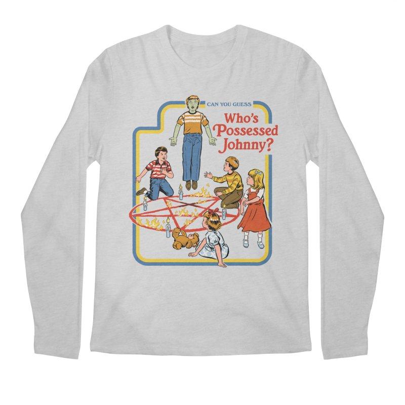 Who's Possessed Johnny? Men's Regular Longsleeve T-Shirt by Steven Rhodes