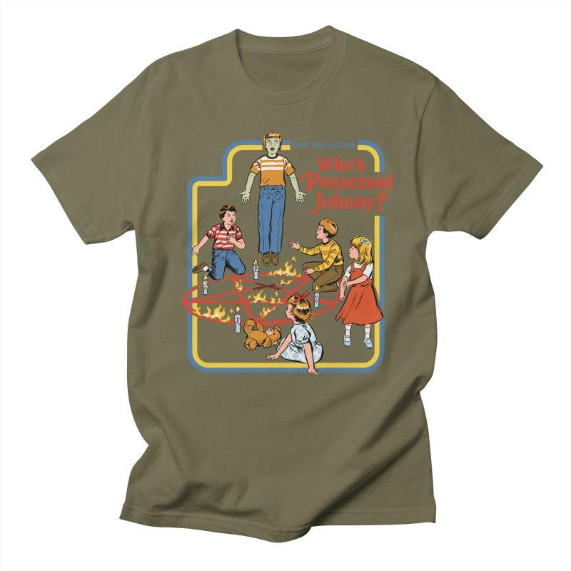 Who's Possessed Johnny? Men's Regular T-Shirt by Steven Rhodes