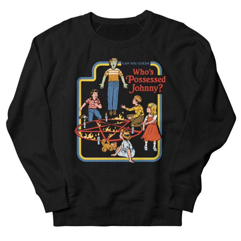 Who's Possessed Johnny? Women's French Terry Sweatshirt by Steven Rhodes