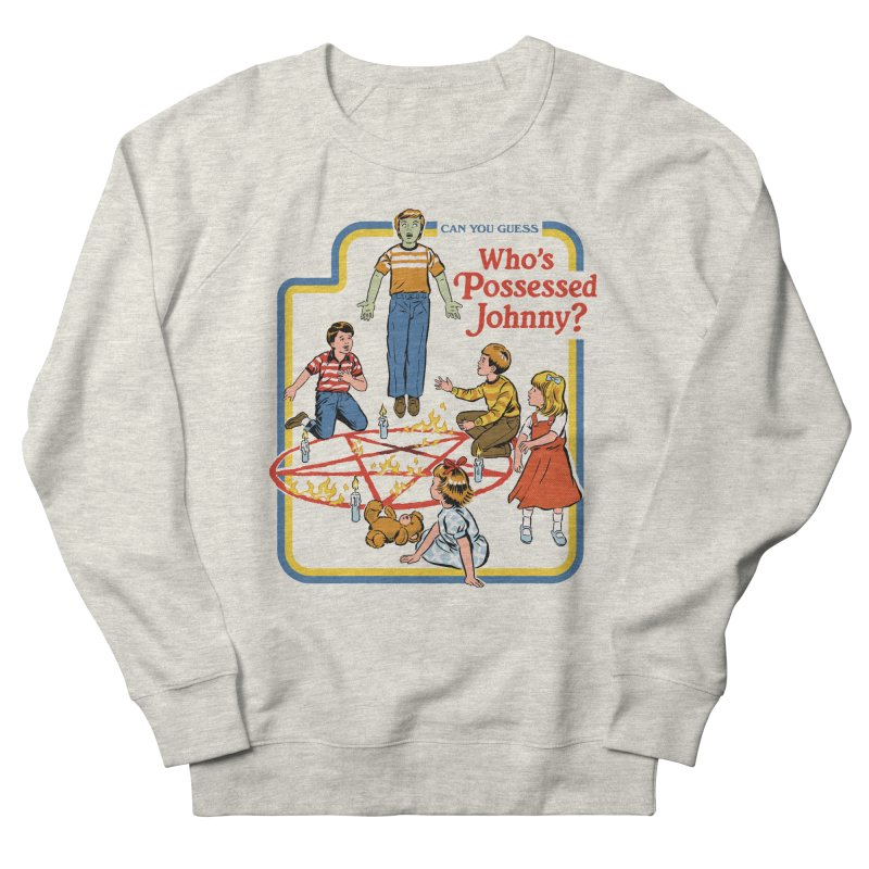 Who's Possessed Johnny? Men's French Terry Sweatshirt by Steven Rhodes