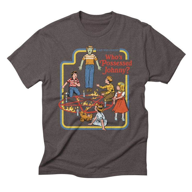 Who's Possessed Johnny? Men's Triblend T-Shirt by Steven Rhodes