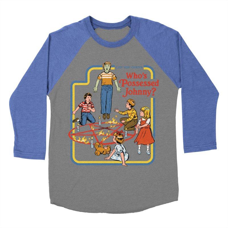 Who's Possessed Johnny? Men's Baseball Triblend Longsleeve T-Shirt by Steven Rhodes