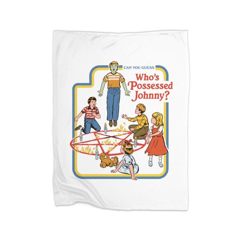 Who's Possessed Johnny? Home Fleece Blanket Blanket by Steven Rhodes