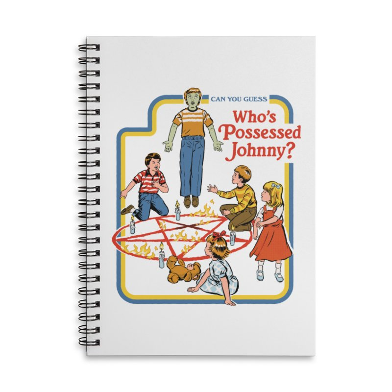 Who's Possessed Johnny? Accessories Lined Spiral Notebook by Steven Rhodes