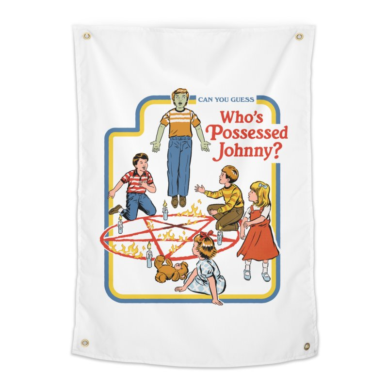 Who's Possessed Johnny? Home Tapestry by Steven Rhodes