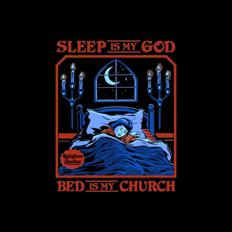 Sleep is my God Home Blanket by Steven Rhodes