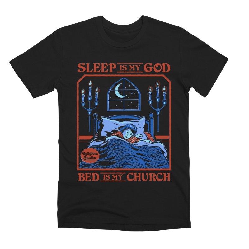 Sleep is my God Men's Premium T-Shirt by Steven Rhodes