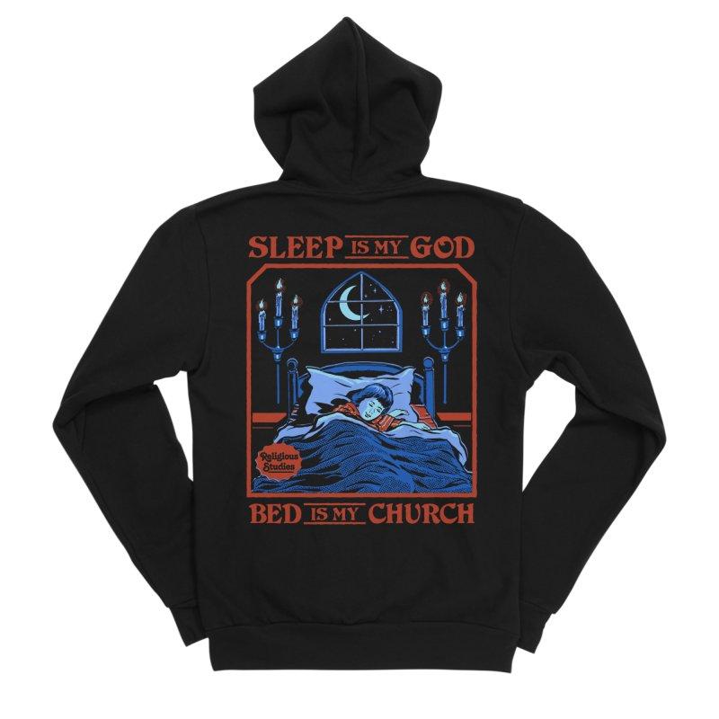 Sleep is my God Men's Sponge Fleece Zip-Up Hoody by Steven Rhodes