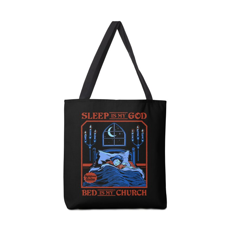 Sleep is my God Accessories Tote Bag Bag by Steven Rhodes