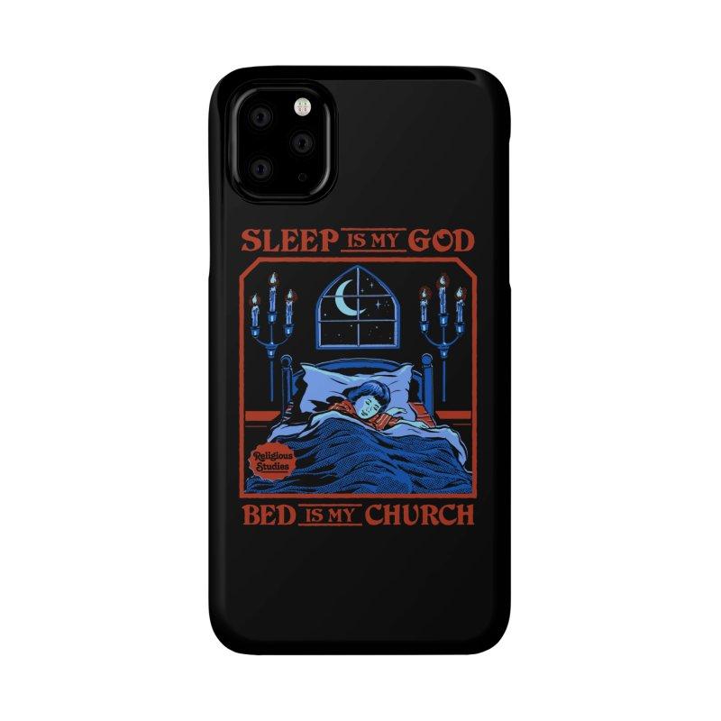 Sleep is my God Accessories Phone Case by Steven Rhodes