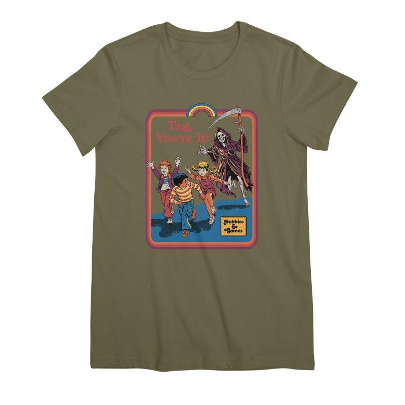 Tag, You're It! Women's Premium T-Shirt by Steven Rhodes