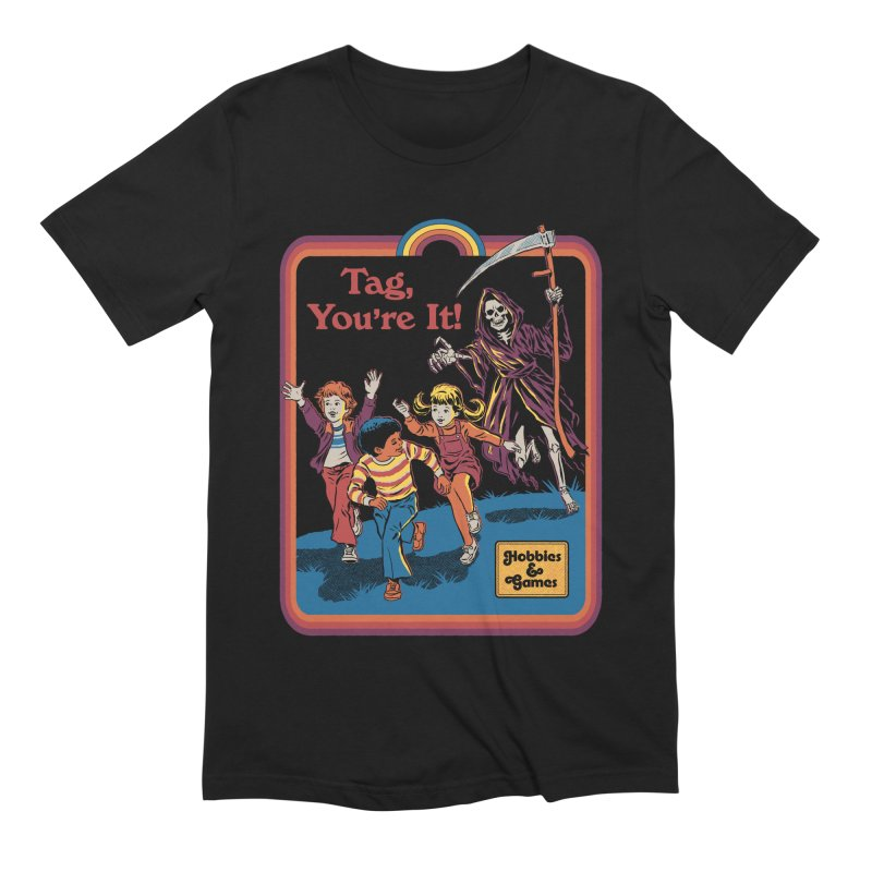 Tag, You're It! Men's Extra Soft T-Shirt by Steven Rhodes