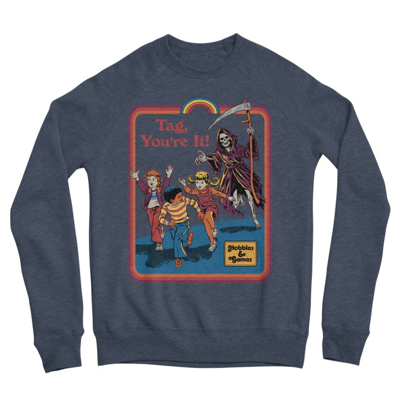 Tag, You're It! Men's Sponge Fleece Sweatshirt by Steven Rhodes