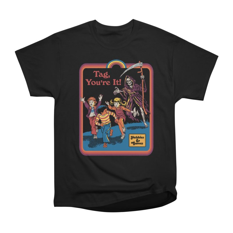 Tag, You're It! Men's Heavyweight T-Shirt by Steven Rhodes