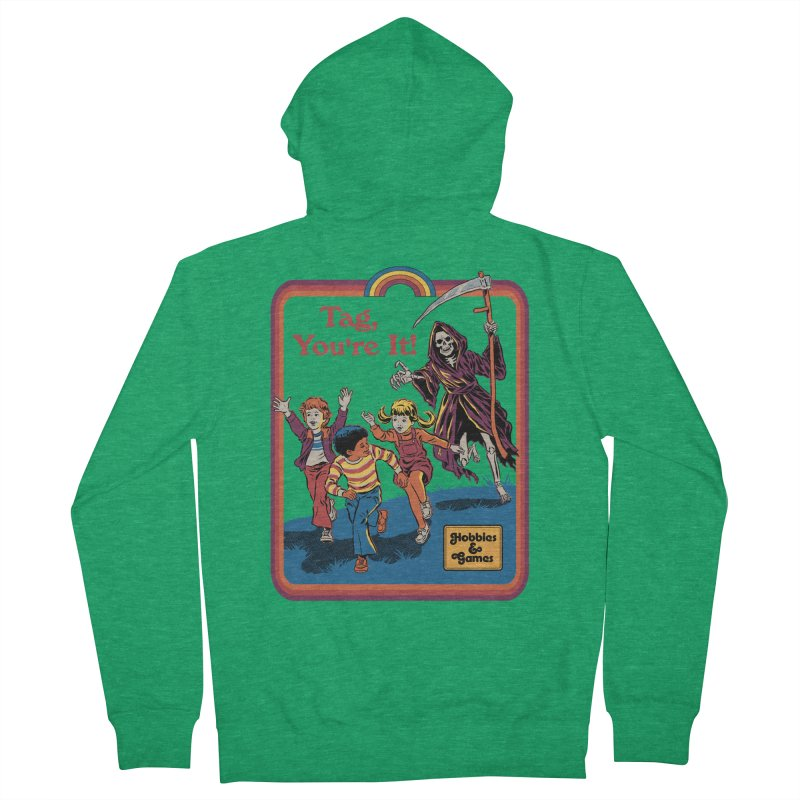 Tag, You're It! Men's Zip-Up Hoody by Steven Rhodes