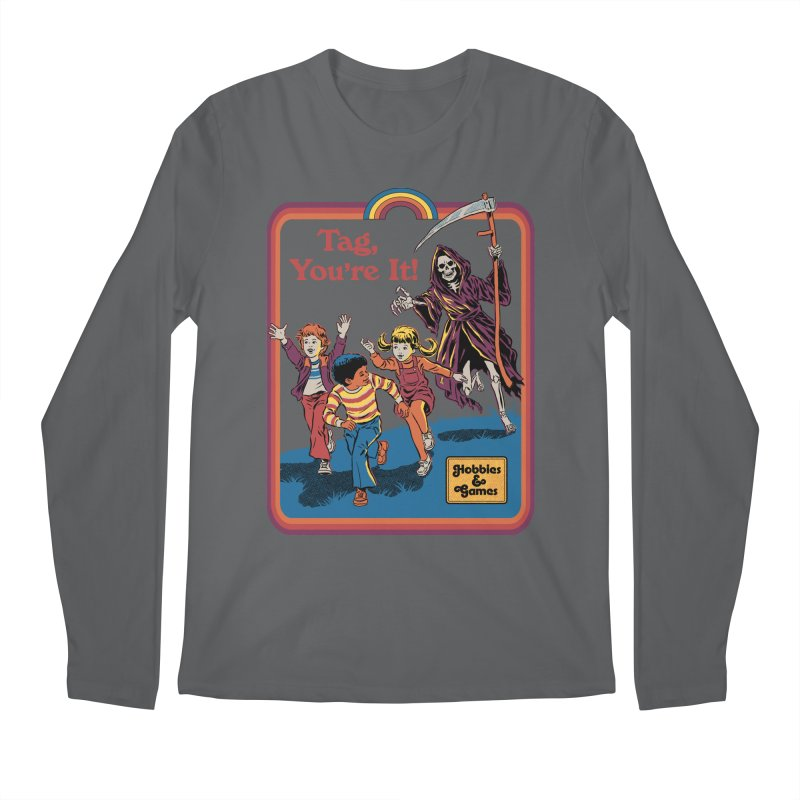Tag, You're It! Men's Regular Longsleeve T-Shirt by Steven Rhodes
