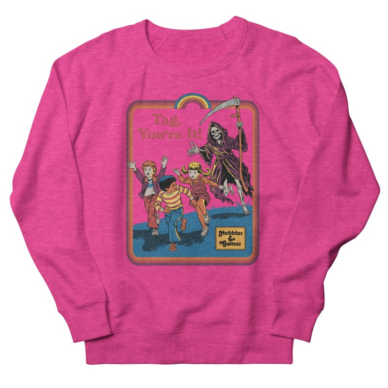 Tag, You're It! Men's French Terry Sweatshirt by Steven Rhodes
