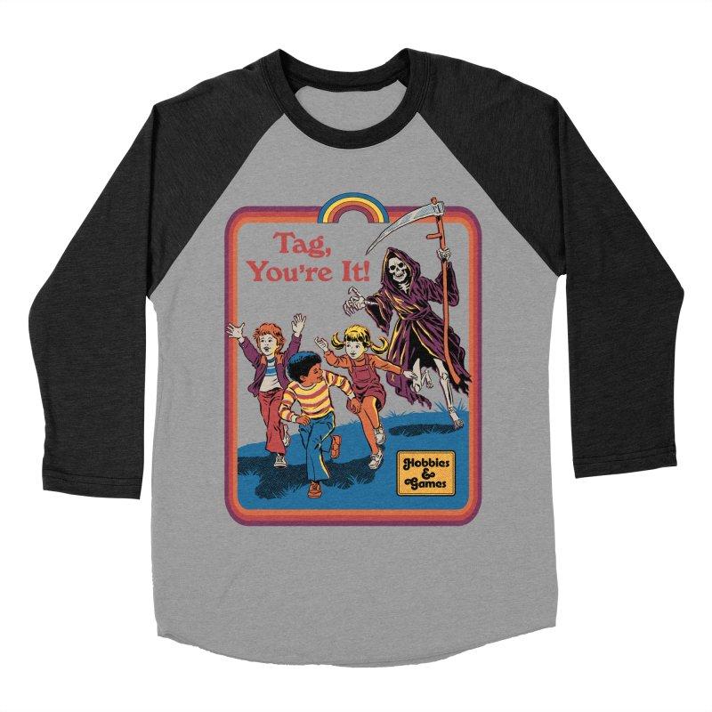 Tag, You're It! Women's Baseball Triblend Longsleeve T-Shirt by Steven Rhodes