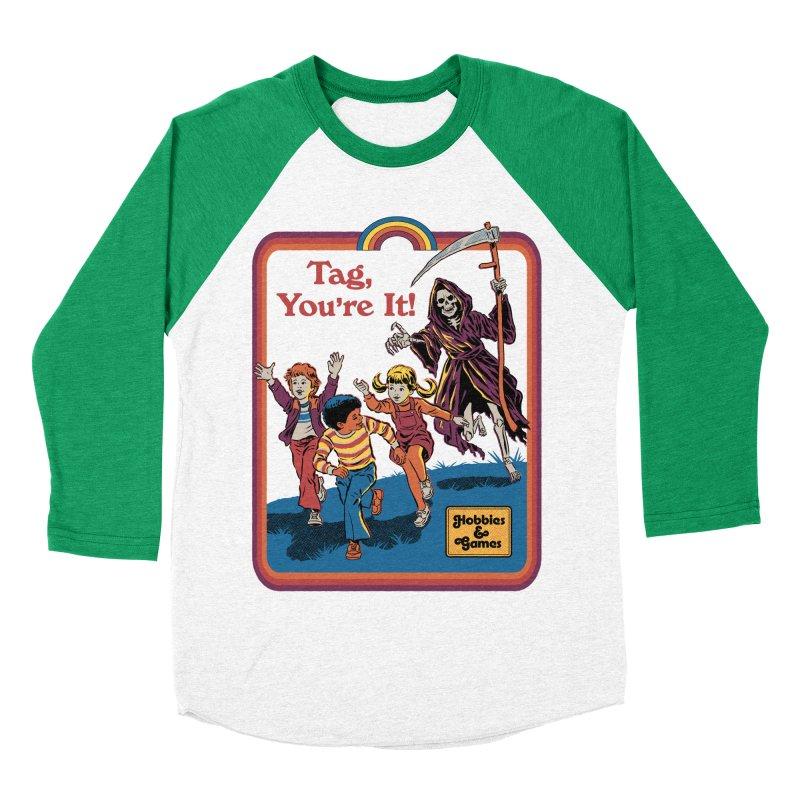 Tag, You're It! Men's Baseball Triblend Longsleeve T-Shirt by Steven Rhodes
