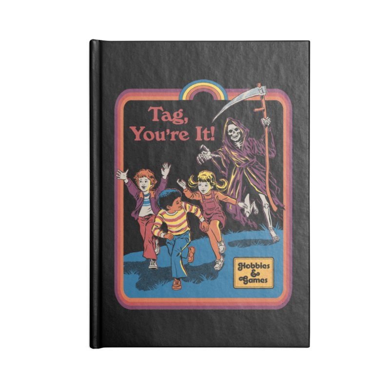 Tag, You're It! Accessories Lined Journal Notebook by Steven Rhodes