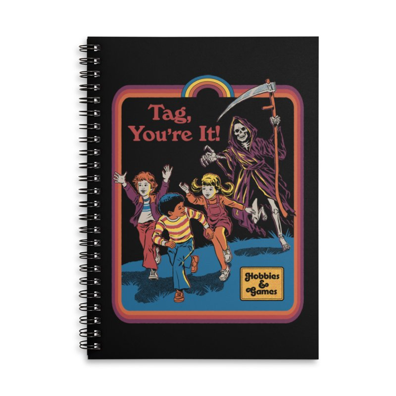 Tag, You're It! Accessories Lined Spiral Notebook by Steven Rhodes