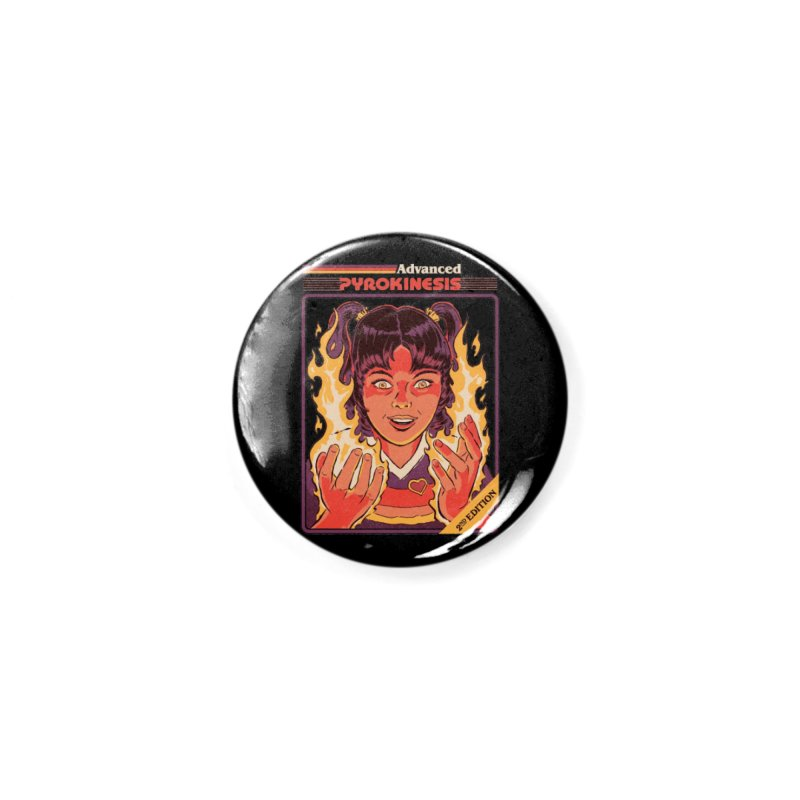 Advanced Pyrokinesis Accessories Button by Steven Rhodes