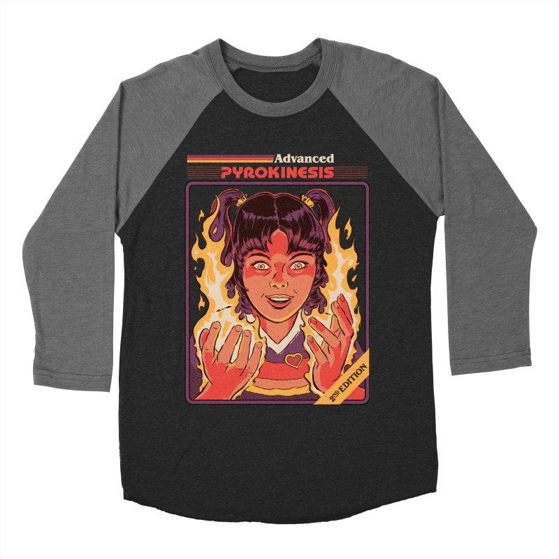 Advanced Pyrokinesis Men's Baseball Triblend Longsleeve T-Shirt by Steven Rhodes