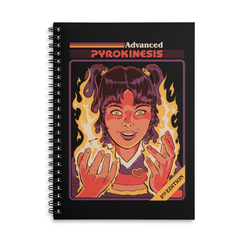 Advanced Pyrokinesis Accessories Lined Spiral Notebook by Steven Rhodes