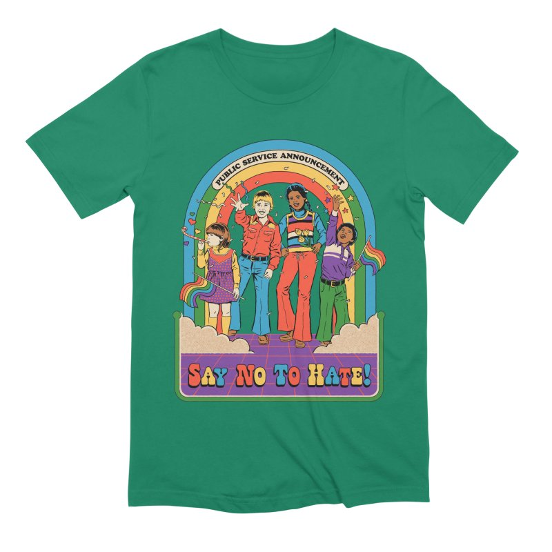 Say No To Hate Men's Extra Soft T-Shirt by Steven Rhodes