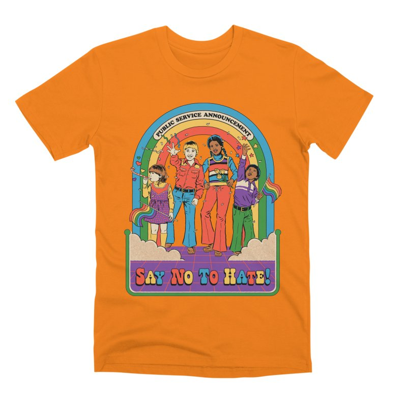 Say No To Hate Men's T-Shirt by Steven Rhodes