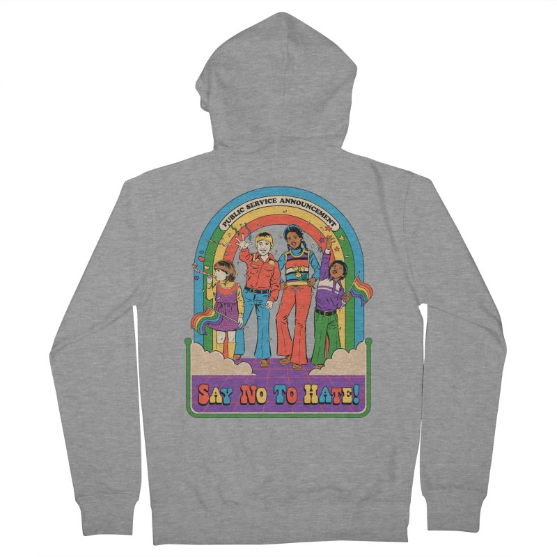 Say No To Hate Men's French Terry Zip-Up Hoody by Steven Rhodes