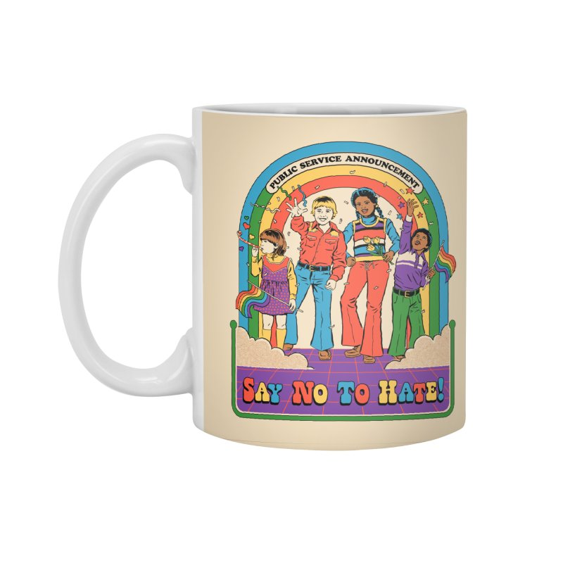 Say No To Hate Accessories Standard Mug by Steven Rhodes