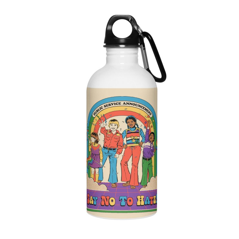 Say No To Hate Accessories Water Bottle by Steven Rhodes