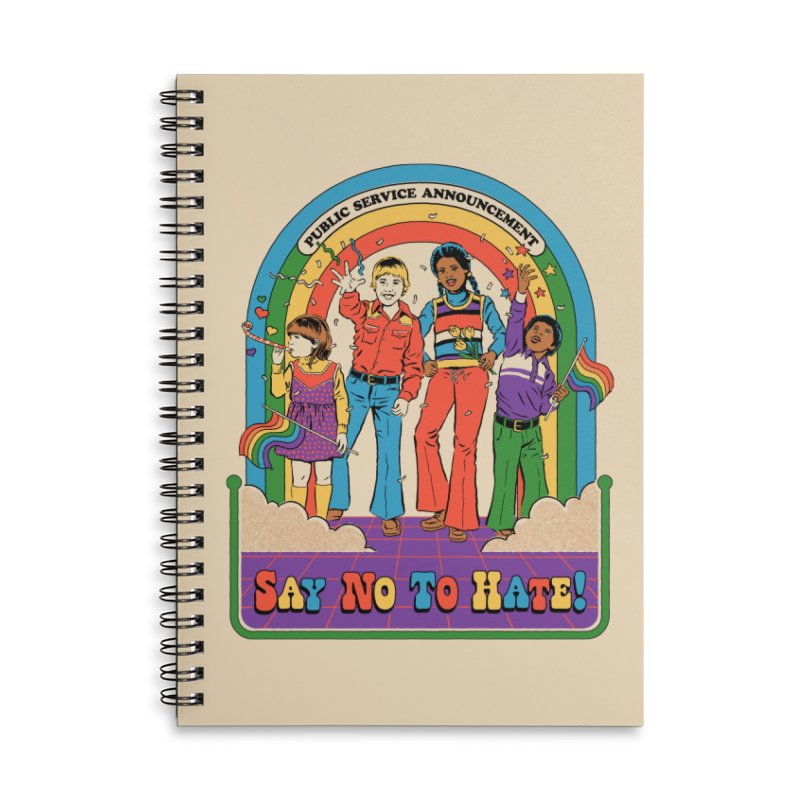 Say No To Hate Accessories Lined Spiral Notebook by Steven Rhodes