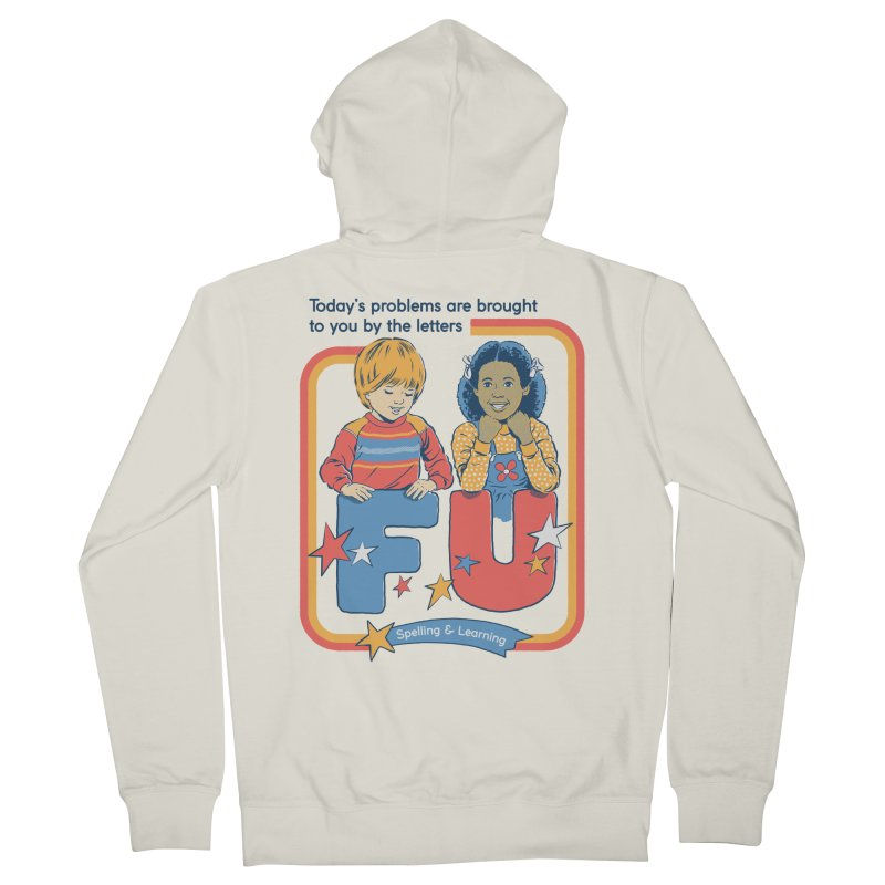 Today's Problems Men's French Terry Zip-Up Hoody by Steven Rhodes