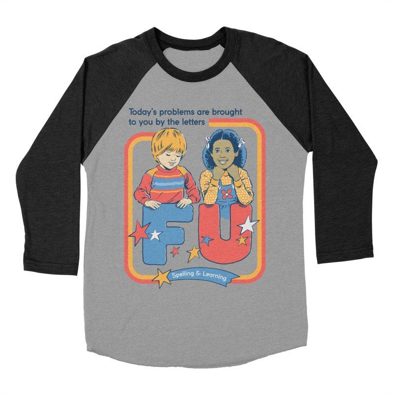 Today's Problems Women's Baseball Triblend Longsleeve T-Shirt by Steven Rhodes