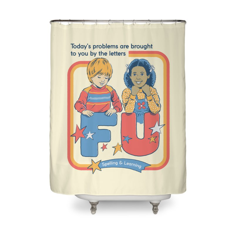 Today's Problems Home Shower Curtain by Steven Rhodes