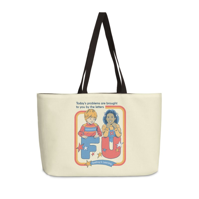 Today's Problems Accessories Weekender Bag Bag by Steven Rhodes