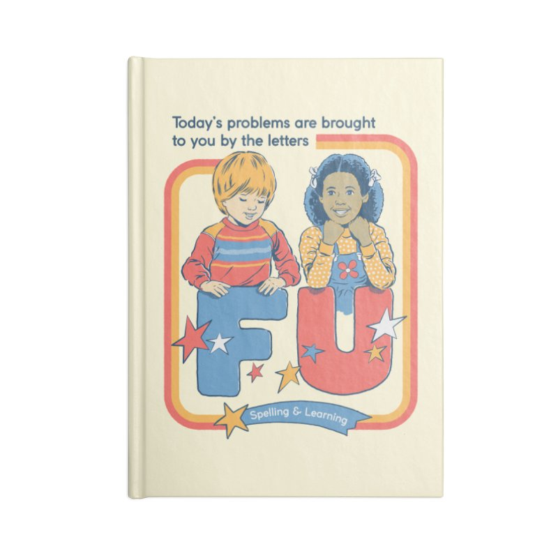 Today's Problems Accessories Blank Journal Notebook by Steven Rhodes