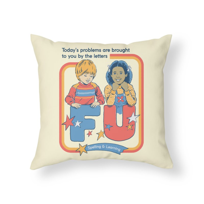 Today's Problems Home Throw Pillow by Steven Rhodes