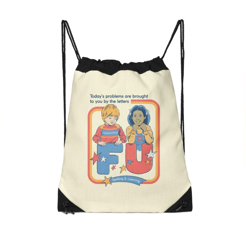 Today's Problems Accessories Drawstring Bag Bag by Steven Rhodes