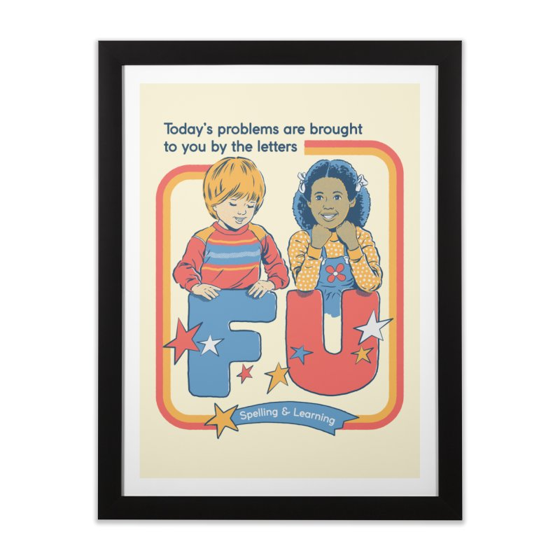 Today's Problems Home Framed Fine Art Print by Steven Rhodes