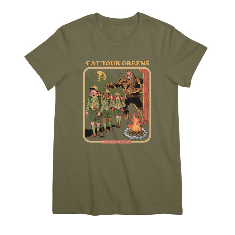 Eat Your Greens Women's Premium T-Shirt by Steven Rhodes