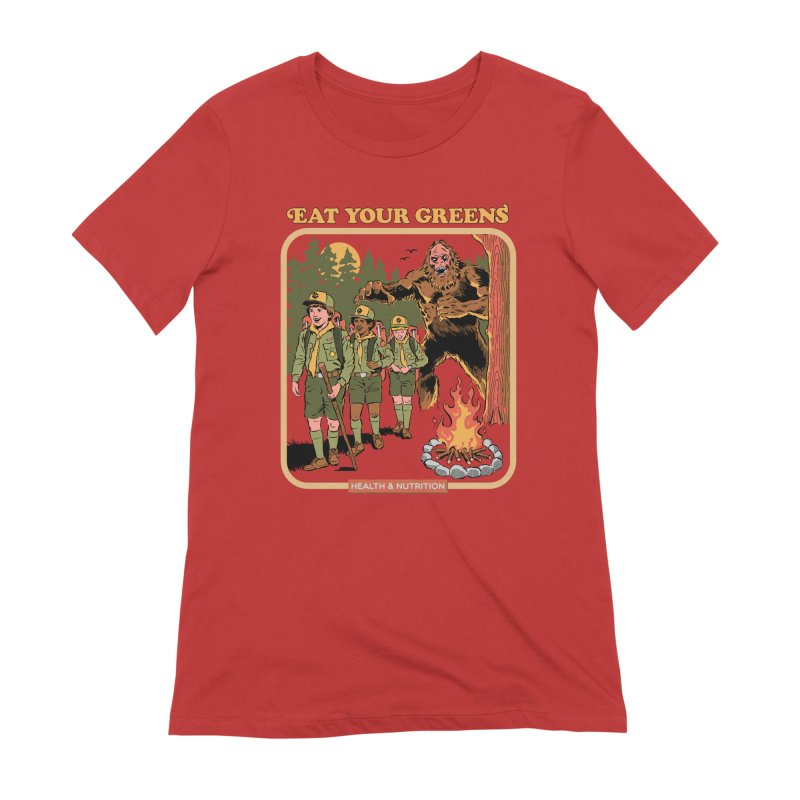 Eat Your Greens Women's Extra Soft T-Shirt by Steven Rhodes