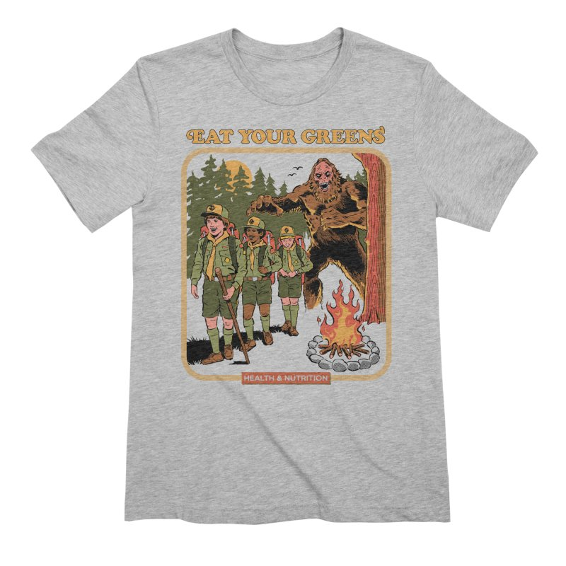 Eat Your Greens Men's Extra Soft T-Shirt by Steven Rhodes