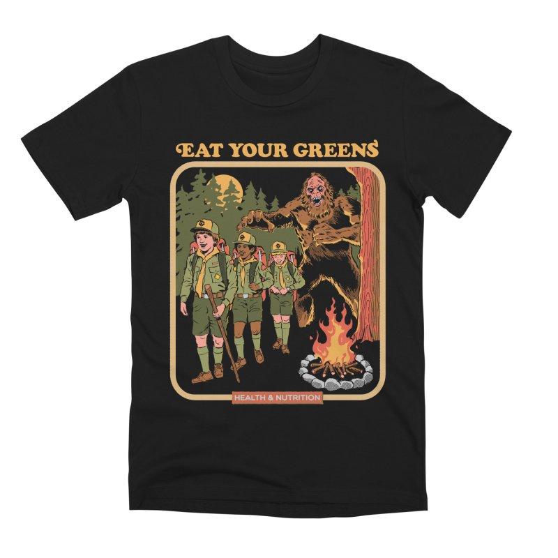 Eat Your Greens Men's Premium T-Shirt by Steven Rhodes