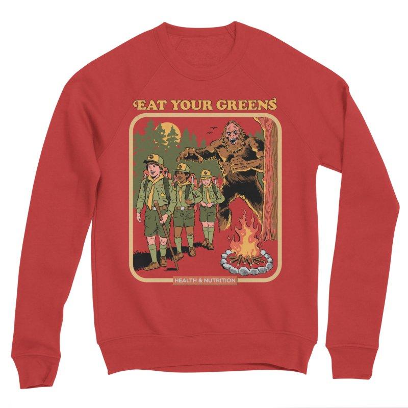 Eat Your Greens Men's Sponge Fleece Sweatshirt by Steven Rhodes