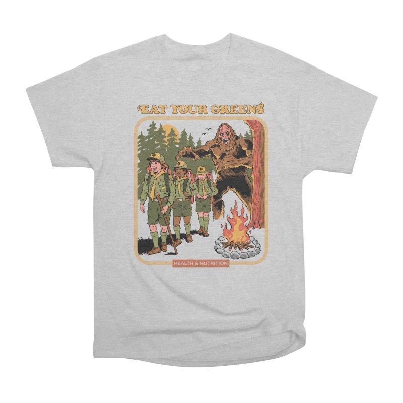Eat Your Greens Men's Heavyweight T-Shirt by Steven Rhodes