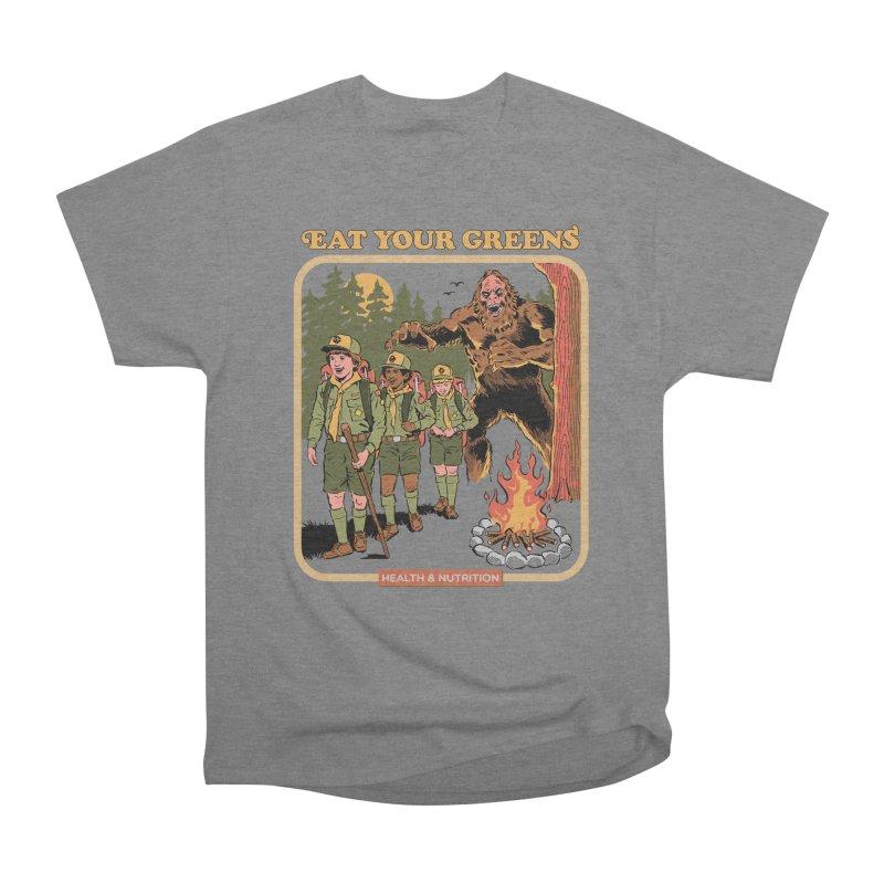 Eat Your Greens Women's Heavyweight Unisex T-Shirt by Steven Rhodes